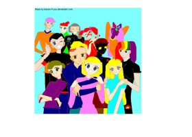 ALL my OCs ((sort of)) by SilverheartGlaceon