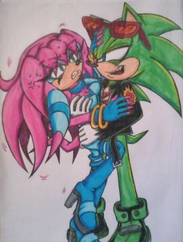 Scourge's Sleazy Hands (Coloured) by Sky-The-Echidna