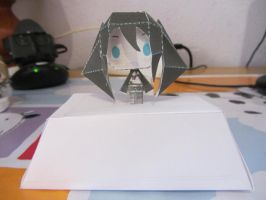 Chibi Black Rock Shooter Papercraft by Byakko92
