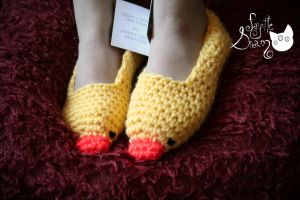 Little Duck slippers by fayettedream