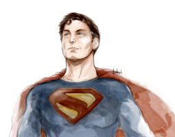 Work in Progress - Superman Fan Art by kimgobartolome