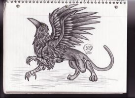 Raven/Panther Griffin by TorchFlame27