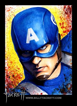 Captain America by billytackett