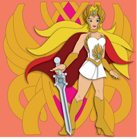 Commission:  She-Ra Shadowbox Mock-up by The-Paper-Pony