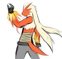 work sketch blaziken by ArcaneWind