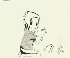 Young Sasuke by TheLonelyMoon8