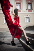 Lady in red by stalae