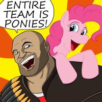 Heavy Loves Pinkie Pie by ShinGallon