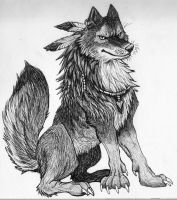 Detailed Wolf in Ink by StephanieAKAfany