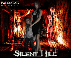 Shepard in Silent Hill by AniaDawson