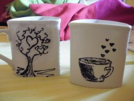 Love mugs by SubLine