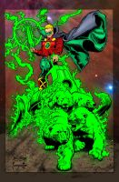 Alan Scott GL Frazetta Homage by statman71