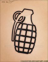 Grenade Tattoo by hassified