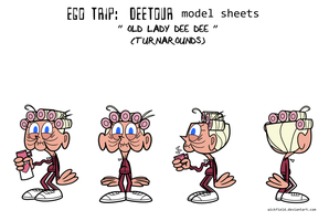 Ego Trip: Deetour - Old Lady Dee Dee Model Sheet by Wickfield