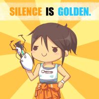 Chell's Motto by bluupanda