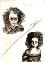 Sweeney Todd sketch by CountessKira