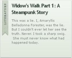 Widow's Walk Part 1: A Steampunk Story by VertFey