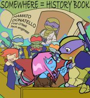 TMNT: Somewhere - History book by NamiAngel