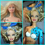 Barbie Repaint/ Blue leopard by ChumpShoes