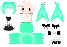 Miku Hatsune - Gothic Outfit [PAPERCRAFT] by RekaOpe