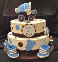Baby Shower Cake by BrightlyWound455