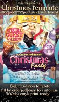 Christmas Party Flyer Template by yAniv-k