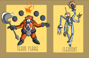 Those That Shine Beta - Team Flare and Clemont by OddPenguin