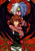 Judai and Yubel Forever Yours by Highwaystarr