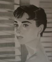 Audrey Hepburn by gypsytoast