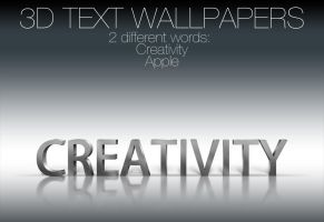 3D Text Wallpapers 2 Versions by NKspace