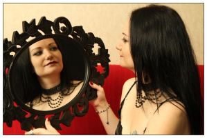 gothic woman mirror stock by Eve-VelvetRose