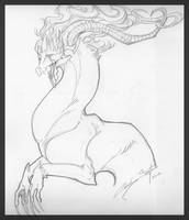 Dragon sketch by Mythka
