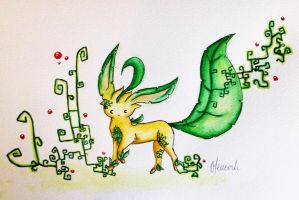 Leafeon by Freeglader