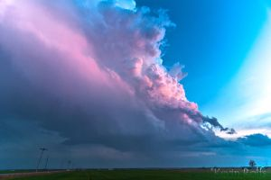 Walters, OK Sunset Supercell Structure by Bvilleweatherman