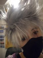 Kakashi Wig + Sharingan by firecasterx2
