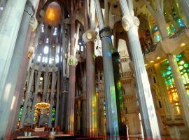 Walking alone in the Sagrada Familia: priceless! by Cloudwhisperer67
