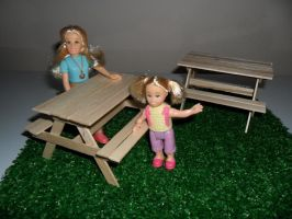 Picnic Table Scale 1:12 by kayanah