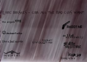 Icon Text Brushes Set 01 by preada58