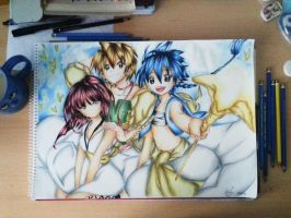only colored pencils! *Magi the labyrinth of magic by aBunny15