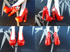 Monster High Shoes - Deep Space Red by TifaTofu