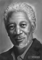 Morgan Freeman by Dorcyy