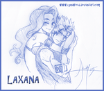 King of Hearts : Laxus and Cana by lynnwood