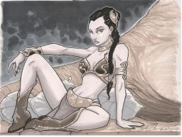 Slave Leia SotD August 3 by Hodges-Art