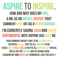 ASPIRE TO INSPIRE by kaierra