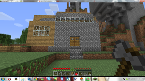 Minecraft My noob cave home blah by MikaMori