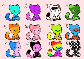 Chibi Kitten Adoptables (OPEN) by DreamAdopts713