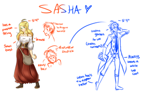 [OCs] Sasha WIP Sketches by banANNUmon