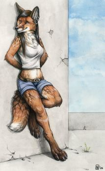Commission - Foxgirllover by Nimrais