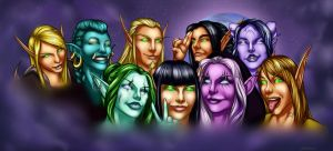 Life of Warcraft Banner (commission) by VenneccaBlind