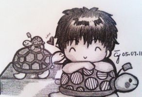 Yesung and Ddangkoma by iamAkiro